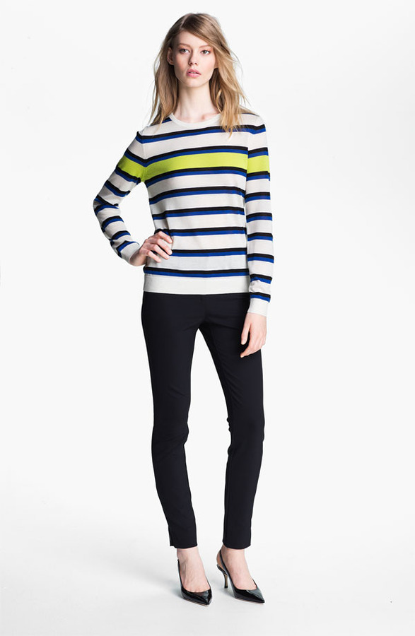 Nordstrom Miss Wu 'Sofie' Stripe Cashmere Sweater Exclusive)