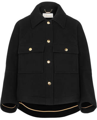 Chloé Cropped Wool-blend Jacket - Black