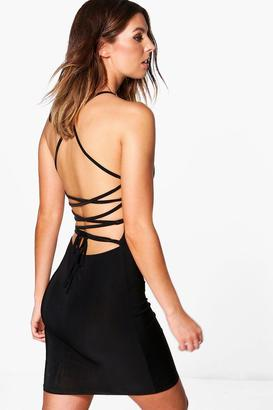 boohoo Lydia Slinky Strappy Bodycon Dress