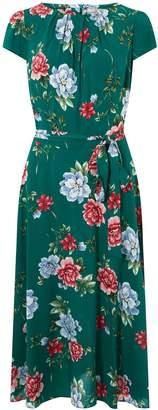 d275c15fc07a Dorothy Perkins Womens   Billie   Blossom Tall Green Floral Print Midi  Skater Dress