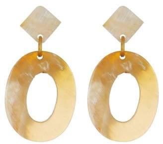 Natasha Accessories Open Circle Dangle Earrings