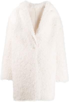 Pinko textured cocoon coat