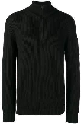 C.P. Company zipped ribbed jumper