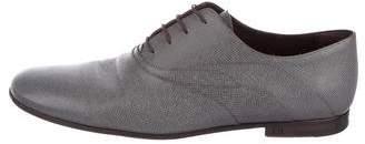 Louis Vuitton Leather Round-Toe Oxfords