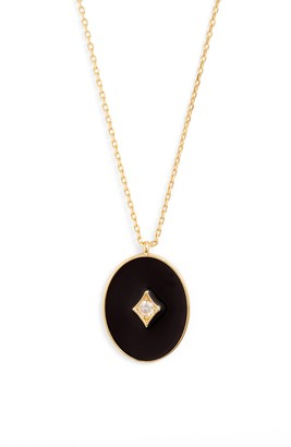 Argentovivo Black Enamel Plated Sterling Silver Pendant Necklace