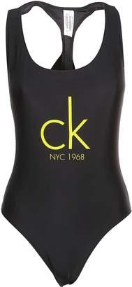 Calvin Klein Logo Racerback Swimsuit