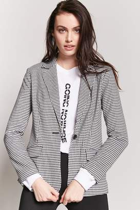 Forever 21 Houndstooth Single-Breasted Blazer