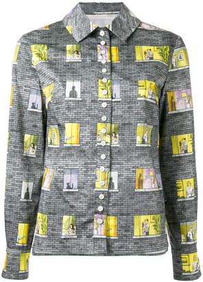 Olympia Le-Tan patchwork patterned shirt