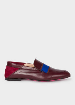 Paul Smith Women's Burgundy Leather 'Freda' Loafers
