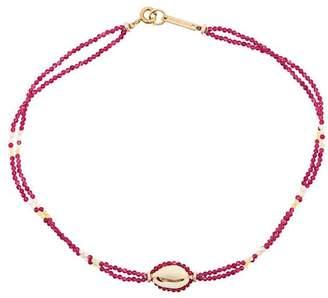 Isabel Marant beaded shell necklace