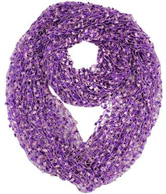 Luxury Divas Multicolor Mesh Knit Loop Scarf