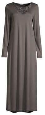 Hanro Ella Long-Sleeve Long Night Gown