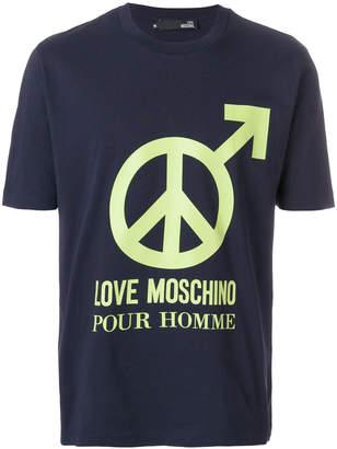 Love Moschino peace graphic T-shirt