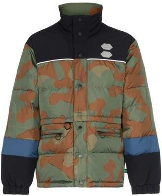 Off-White Camo print padded jacket