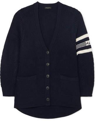 Rag & Bone Addams Merino Wool Cardigan - Navy