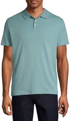 Claiborne Mens Short Sleeve Polo Shirt