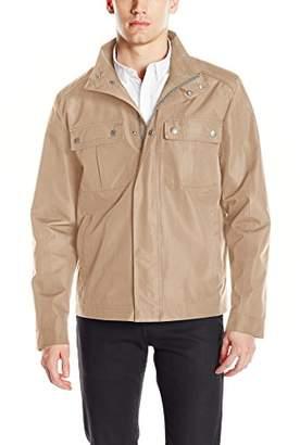 Cole Haan Men's Stand Collar City Rain Jacket