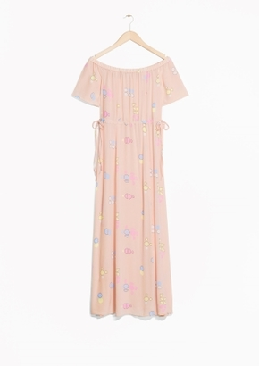 Other Stories Off-Shoulder Maxi Dress