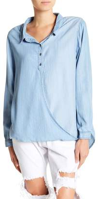 MinkPink Long Sleeve Collared Blouse
