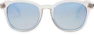 LE SPECS Bandwagon round-frame sunglasses $41 thestylecure.com