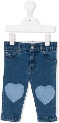 Stella McCartney heart patch jeans
