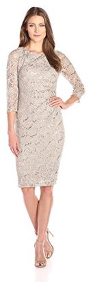 Jessica Howard Women's 3/4 Sleeve Side Tucked Sheath $99 thestylecure.com