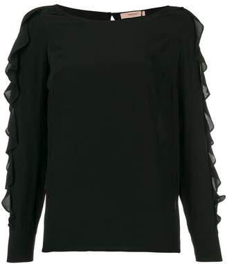 Twin-Set ruffled sleeve blouse