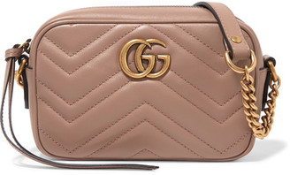 Gucci - Gg Marmont Camera Mini Quilted Leather Shoulder Bag - Blush $980 thestylecure.com