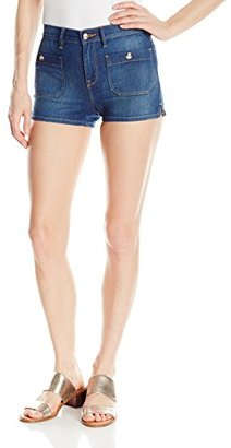 Juicy Couture Black Label Women's Denim Indigo Denim Short $118 thestylecure.com