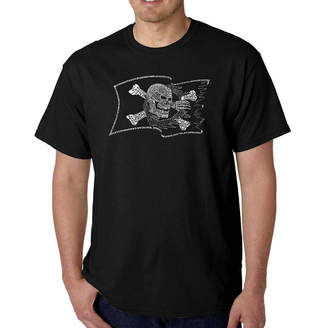 LOS ANGELES POP ART Los Angeles Pop Art Famous Pirate Captains and Ships Short Sleeve Word Art T-Shirt - Big and Tall