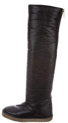 Stella McCartney Vegan Leather Over-The-Knee Boots Black Vegan Leather Over-The-Knee Boots