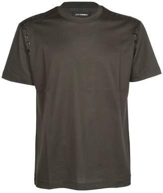 Les Hommes Eyelet Detail T-shirt