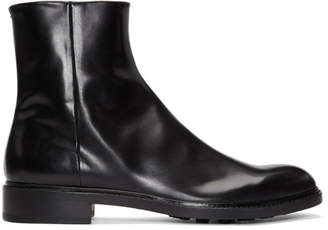Maison Margiela Black Side-Zip Chelsea Boots