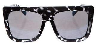 Quay Oversize Mirrored Sunglasses