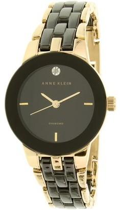 Anne Klein Women's AK-1610BKGB Black Ceramic Analog Quartz Fashion Watch