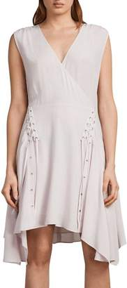 AllSaints Miller Lace-Up Dress