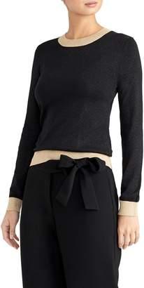 Rachel Roy Collection Metallic Pop Sweater