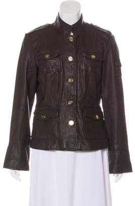 Tory Burch Leather Utility Jacket