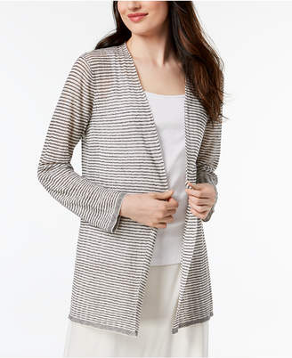 Eileen Fisher Organic Linen Sheer Cardigan, Regular & Petite