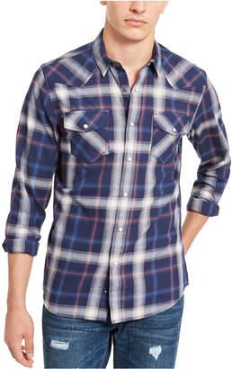 American Rag Men Plaid Western Shirt