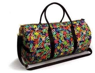 Moschino Travel / Gym / Overnight Large Bag Unisex With Gold Zipper