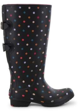 Chooka Women's Dot Wide-Calf Rain Boot Women's Shoes