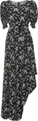 Co Asymmetric Floral Maxi Dress