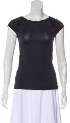 Christian Dior Silk-Blend Short Sleeve Top
