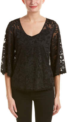 Ella Moss Embroidered Lace Top