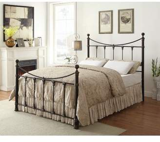 Coaster Company Gideon Queen Bed in Black Antique Brass