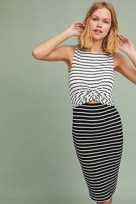 Bailey 44 Two-Toned Stripe Column Dress
