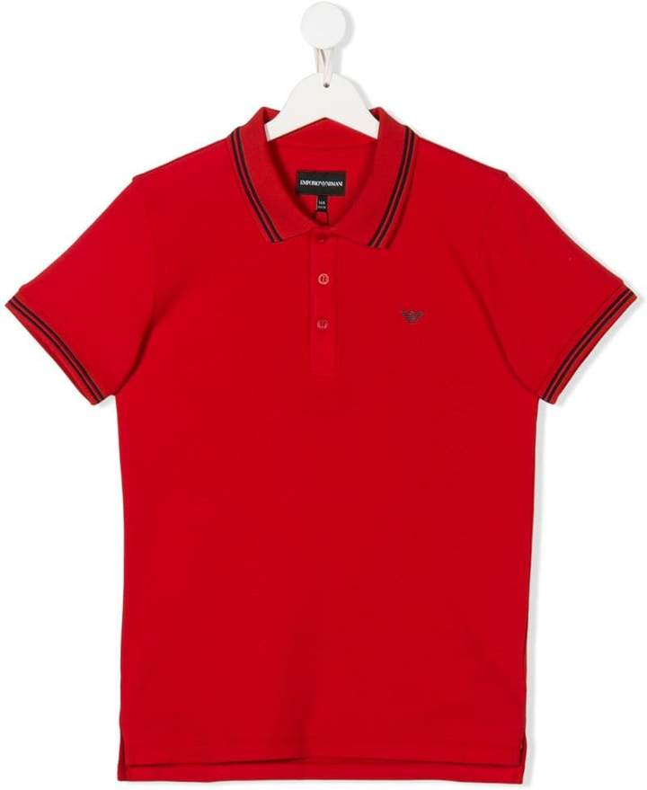Emporio Armani Kids 8N4F301JPTZ0391 RED Natural (Veg)->Cotton