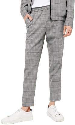 Topman Check-Print Smart Joggers