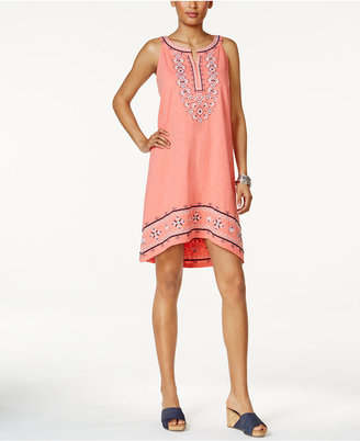 Style & Co Embroidered High-Low Dress, Only at Macy's $69.50 thestylecure.com
